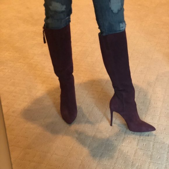 world-wide free shipping 100% authenticated fashionable patterns Michael Kors high heel boots burgundy color